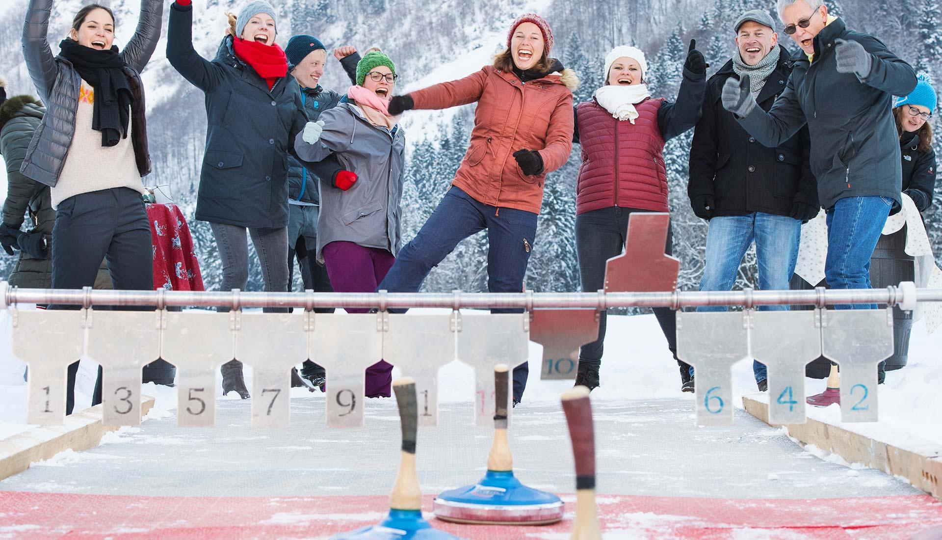 Eisstockschießen - organisiert von der Eventfabrik OWL